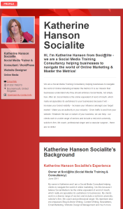 Katherine Hanson Socialite  Online Media