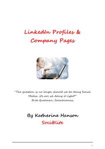 LinkedIn Profiles & Company Pages ebook
