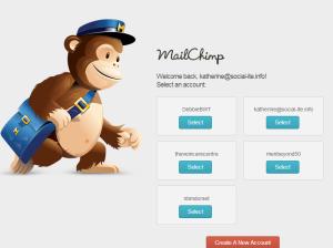Select an Account   MailChimp