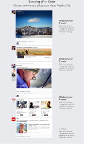 Facebook new look news feed