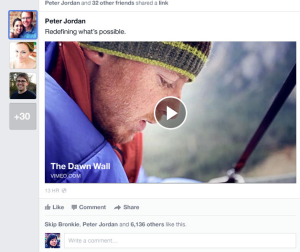 Facebook news feed pop-out bar